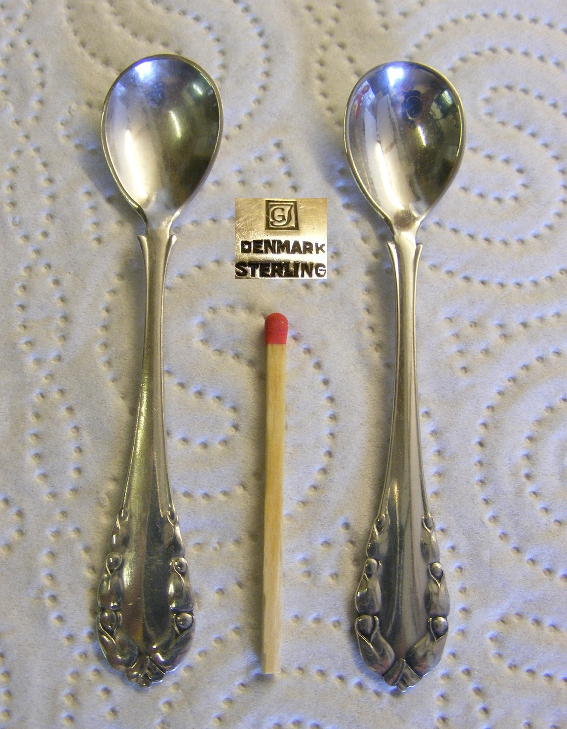 """Lily of the Valley by Georg Jensen Sterling Silver Salt Spoon 3 1//4/"""""""